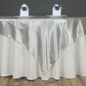 """Efavormart 60"""" SATIN Square Table Overlay Table To"""