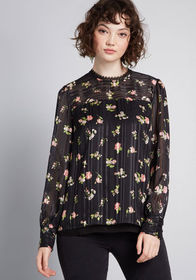 ModCloth ModCloth Accentuated Ease Long Sleeve Blo