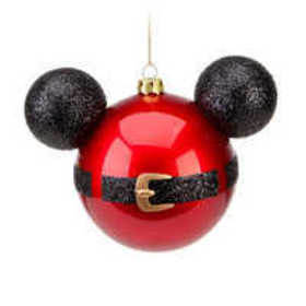 Santa Mickey Mouse Icon Ornament