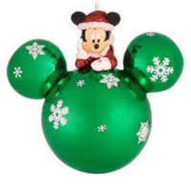 Santa Mickey Mouse on Mouse Icon Ornament