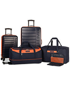 Nautica Sea Tide 5-Pc. Hardside Luggage Set, Creat