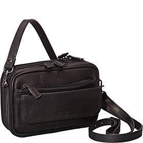 Colombian Leather Compact Day Travel Bag