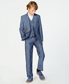 Calvin Klein Big Boys Plain-Weave Suit Jacket
