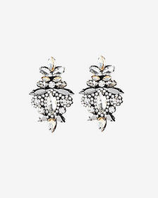 ornate stone earrings