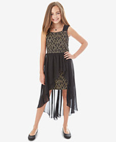 BCX Big Girls 2-Pc. Bonded Lace Overlay Dress & Ne