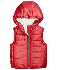 First Impressions Baby Boys Hooded Puffer Vest, Cr