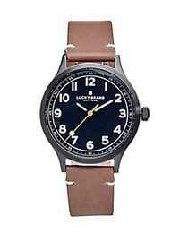 Lucky Brand Jefferson Leather Watch BROWN