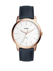 Fossil Dress Stainless Steel Leather Analog Watch