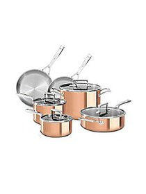 KitchenAid Tri-Ply Copper 10-Piece Set COPPER