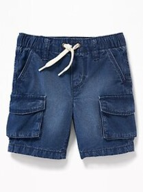 Functional Drawstring Pull-On Cargo Shorts for Tod