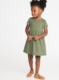 Jersey Fit & Flare Dress for Toddler Girls