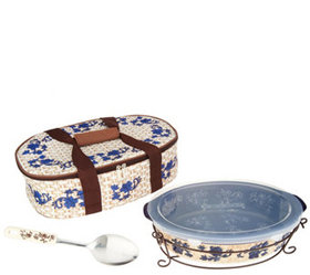 """""""As Is"""" Temp-tations Floral Lace 3qt Pack n' Go Ba"""