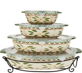 """""""As Is"""" Temp-tations Old World Set of 4 Oval Baker"""