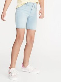 Ballerina Light-Wash Jean Bermuda Shorts for Girls