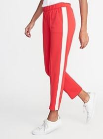 Mid-Rise Side-Stripe Joggers for Women