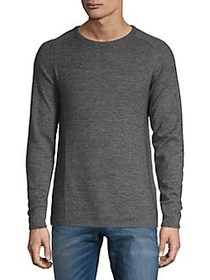 Selected Homme Textured Cotton Sweater TITANIUM