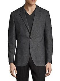 HUGO Jeffrey Wool-Blend Suit Jacket CHARCOAL