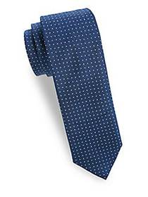 Saks Fifth Avenue Made in Italy Silk Pin Dot Tie B