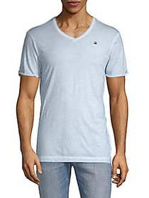 G-Star RAW V-Neck Short-Sleeve Cotton Tee LAUNDRY