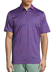 Saks Fifth Avenue COLLECTION Med Stripe Polo PURPL