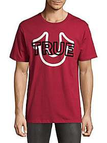 True Religion Cheer Cotton Tee RUBY RED