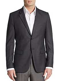 Theory Regular-Fit Xylo NP Wool Sportcoat CHARCOAL