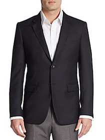 Theory Regular-Fit Xylo NP Wool Sportcoat BLACK