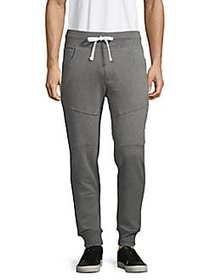 True Religion Quilted Joggers HEATHER CHARCOAL