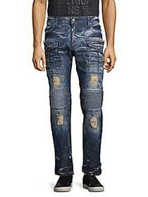 Robin's Jean Straight Fit Cargo Jeans BLUE