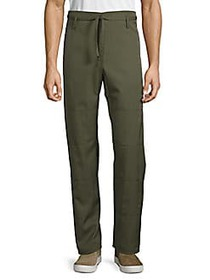 Valentino Belted Straight-Fit Wool Pants ARMY