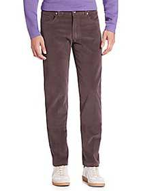 Saks Fifth Avenue COLLECTION Five-Pocket Cord Pant