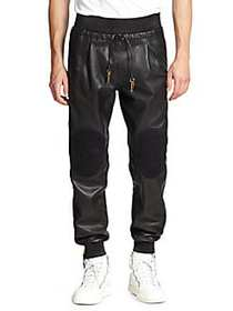 G-Star RAW Leather Pants NERO