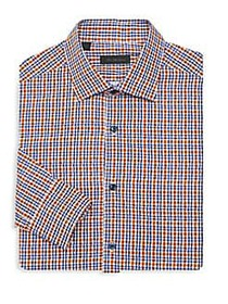 Saks Fifth Avenue COLLECTION Bright Plaid Shirt OR