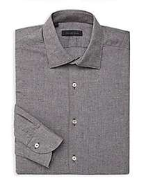 Saks Fifth Avenue COLLECTION Sport-Fit Tweed Butto