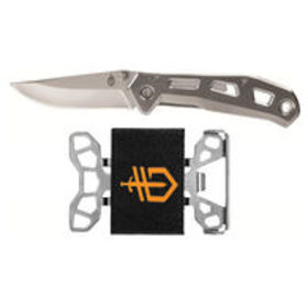 Gerber Airlift Knife and Wallet Set-Silver