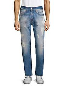 True Religion Distressed Relaxed Fit Jeans BLUE