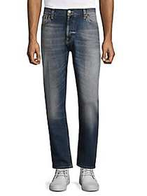 Nudie Jeans Brute Knut Straight Fit Jeans BLUE HIK