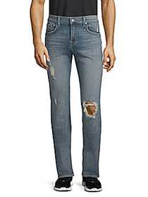 7 For All Mankind Slimmy Stretch Cotton Ripped Jea