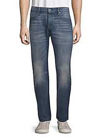 7 For All Mankind Cotton Straight-Leg Jeans BLUE