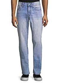 True Religion Distressed Straight-Leg Jeans COUNT
