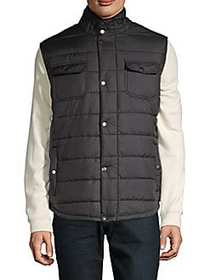 American Stitch Quilted Puffer Vest BLACK