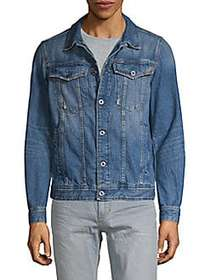 G-Star RAW Spread Collar Denim Jacket MEDIUM AGED