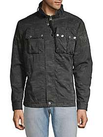 G-Star RAW Printed Full-Zip Cotton Jacket GREY