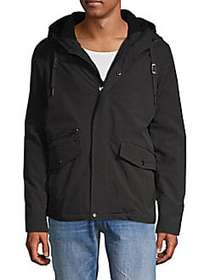 Calvin Klein Faux Shearling-Lined Hooded Jacket BL