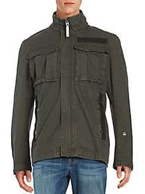 G-Star RAW Cotton Utility Jacket ASFALT