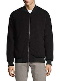 Russell Park Faux Shearling Bomber Jacket BLACK