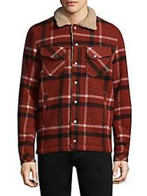 Nudie Jeans Lenny Faux Shearling Checkered Jacket