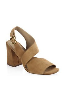 Michael Kors Collection Asher Suede Sandals CIGAR