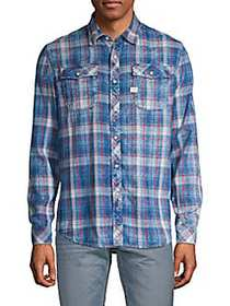 G-Star RAW Plaid Long-Sleeve Button-Down Shirt IND