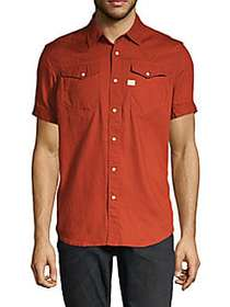 G-Star RAW Short-Sleeve Button-Down Shirt AUBURN